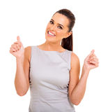 Woman thumbs up Royalty Free Stock Images