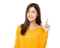 Woman with tick gesture Royalty Free Stock Image