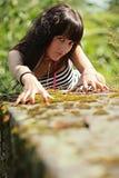 Woman-tigress Royalty Free Stock Images