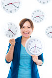 Woman and time Royalty Free Stock Photo