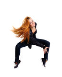 Woman on tiptoe Royalty Free Stock Image