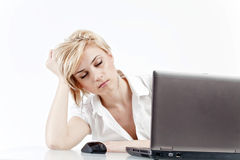 Free Woman Tired At Work Stock Photo - 26880710