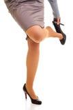 Woman tired legs Stock Photos
