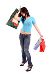 Woman tired after shopping Stock Image