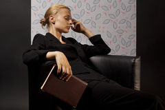 Woman tired from work Royalty Free Stock Photos
