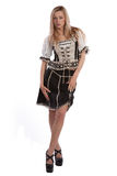 Woman in Tirol oktoberfest dirndl or dress Royalty Free Stock Image