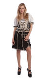 Woman in Tirol oktoberfest dirndl or dress Stock Photos