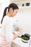 Woman to cook stock images