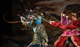 "A woman to fight many people- Beijing Opera"" Women Generals of Yang Family"" Royalty Free Stock Photo"