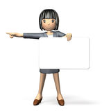 Woman to guide using the message board Stock Photography