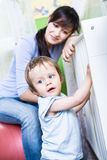 Woman with a toddler Stock Photo