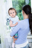 Woman with a toddler Royalty Free Stock Photo