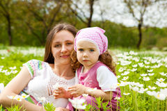 Woman and and toddler girl Stock Image