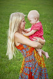 Woman with toddler royalty free stock photos