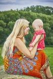 Woman with toddler Stock Photos