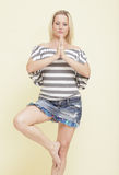 Woman in a toga pose Royalty Free Stock Photography