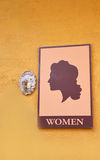 Woman toilet signs Royalty Free Stock Photos