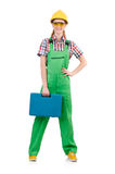 Woman with toolkit isolated Royalty Free Stock Photo