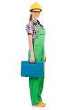 Woman with toolkit Stock Images