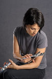 Woman with tools Royalty Free Stock Photography