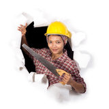 Woman with tools Stock Images