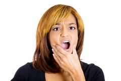 Woman with tooth ache Royalty Free Stock Photo