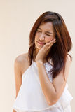 Woman with tooth ache Stock Photo
