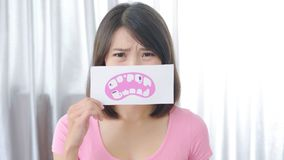 Woman with tooth decay problem Royalty Free Stock Image