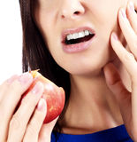 Woman with tooth pain Stock Image