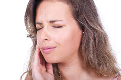 Woman with toothache Royalty Free Stock Image