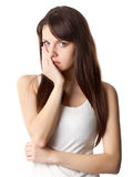 Woman with toothache Royalty Free Stock Photography