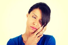 Woman with toothache Stock Photography