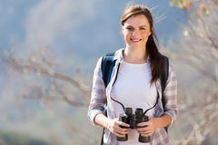 Woman top mountain Stock Photos