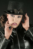 Woman in a Tophat royalty free stock photo
