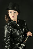 Woman in a Tophat Stock Photography