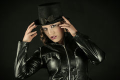 Woman in a Tophat Royalty Free Stock Image