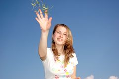 Woman Toss Royalty Free Stock Photography