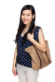 Woman with tote bag Royalty Free Stock Image