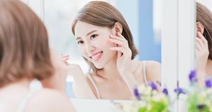 Woman touch her eye Royalty Free Stock Photo