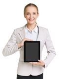 Woman with touchpad Stock Photo