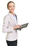 Woman with touchpad Royalty Free Stock Image