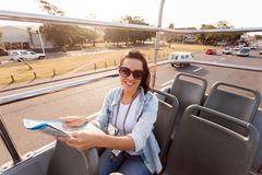 Woman touring city Stock Photography