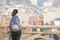 Woman tourist at fenghuang Royalty Free Stock Photos