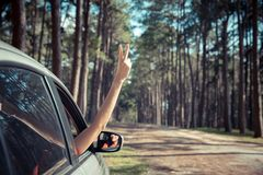 Self drive traveling concept royalty free stock images