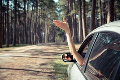 Self drive traveling concept royalty free stock photography