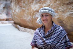 Woman tourist in Jordan Stock Image