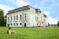 Woman tourist near Griboedov mansion Royalty Free Stock Images