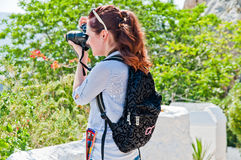 Woman tourist Stock Image