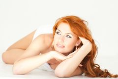 Woman with towel Royalty Free Stock Photos