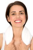 Woman with towel Stock Images
